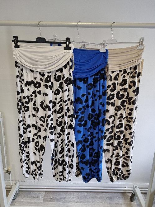 The Leopard Hareem Trousers (Small Size) - Sale Item  - NO RETURN