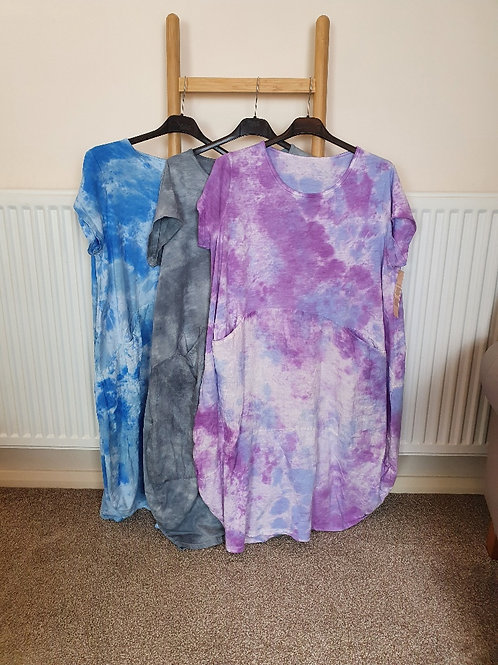 The Zara Tie Dye Jersey and Linen Dress - Sale Item - NO RETURN