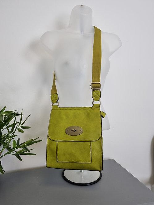 The Messenger Bag - Lime Green