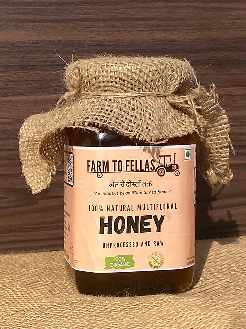 Raw and Organic Multifloral Honey (500 gm)