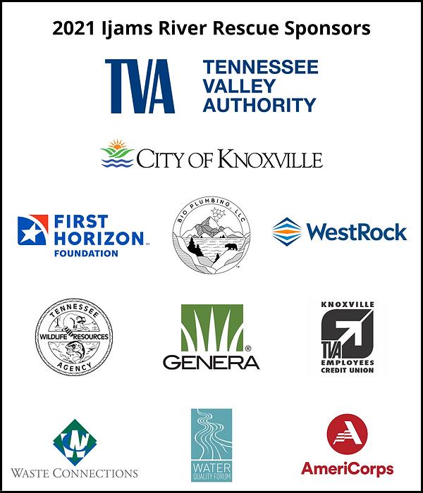 2021 Ijams River Rescue Sponsors Tall 6x