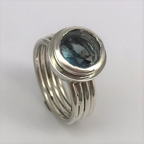 Silber 925 mit Topas London Blue