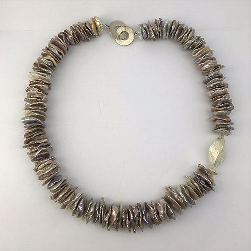 Keshi-Perlen mit Silber 925
