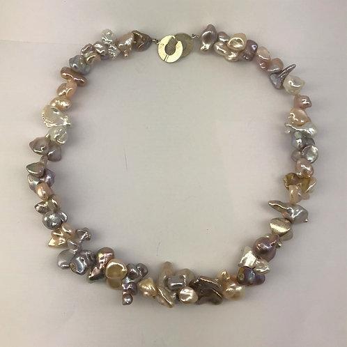 Keshi Perlen mit Silber 925