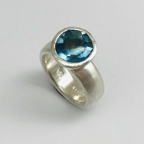 Silber 925 mit Topas Swiss Blue