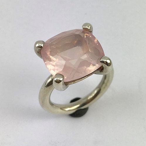 Ring Silber 925 mit Rosenquarz 9.7ct