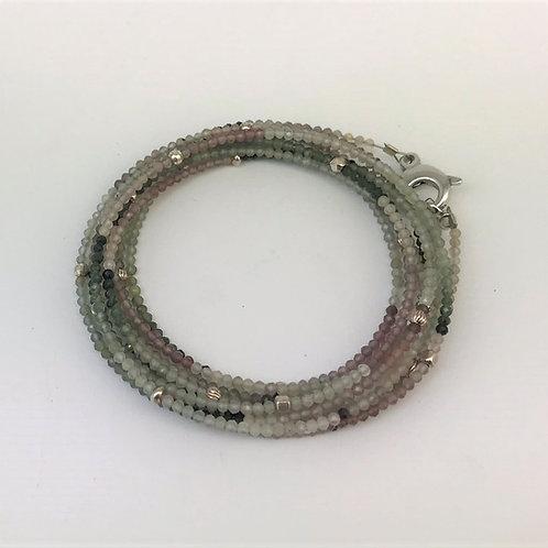 Lange Kette aus Achat mit Silber 925