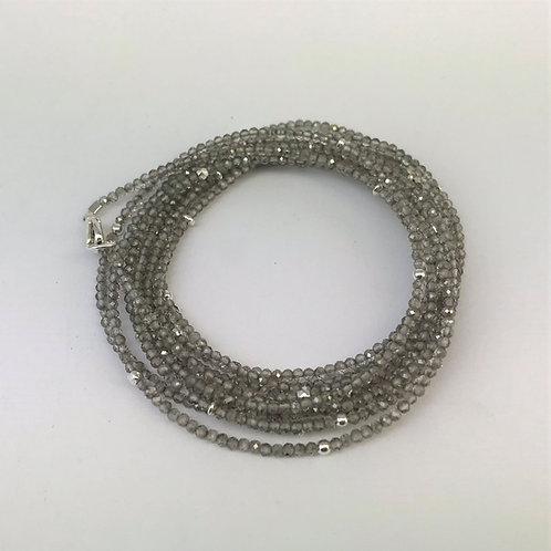Lange Kette aus Topas (behandelt) mit Silber 925