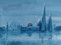London Skyline moonlight T Spanton s - T