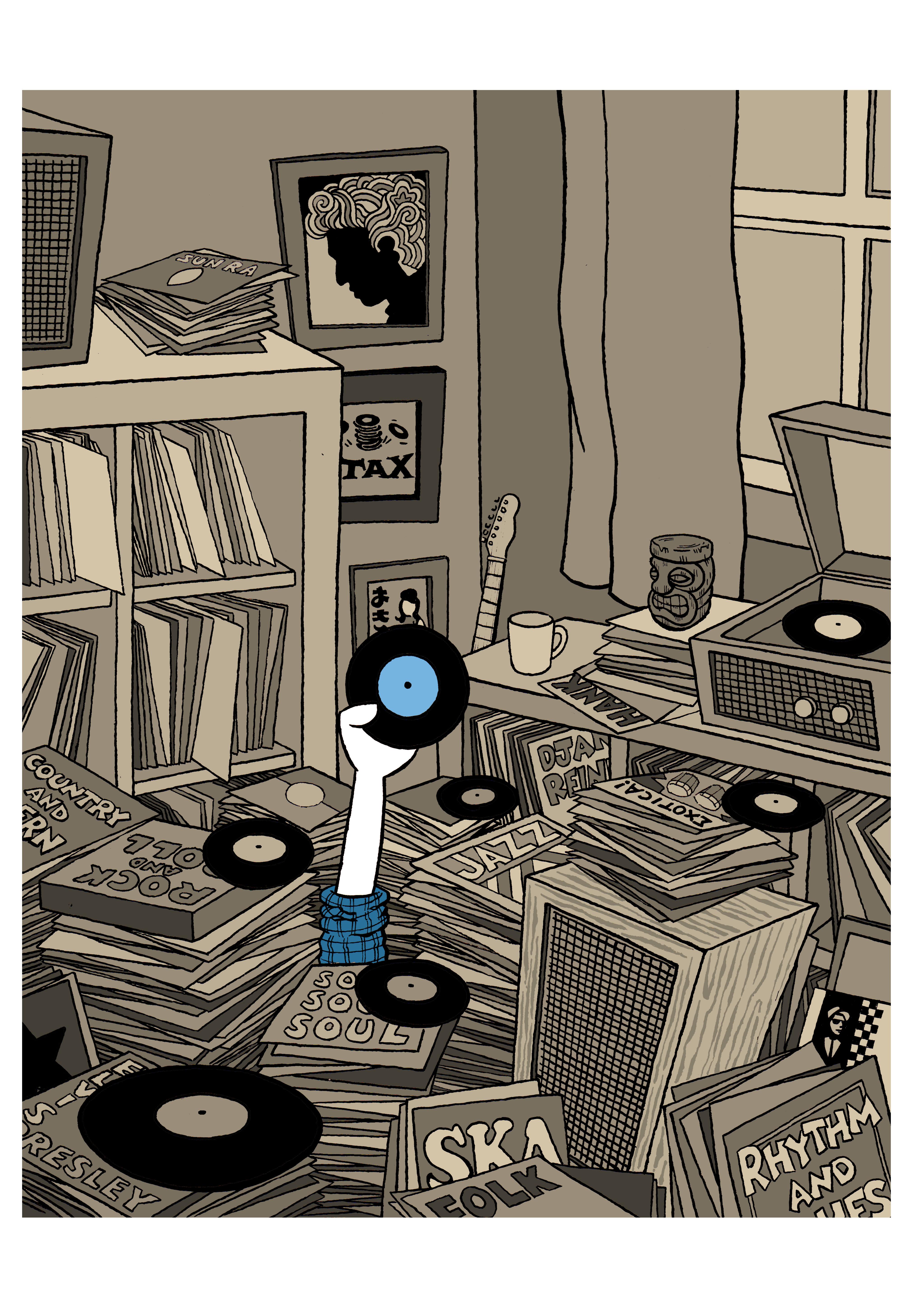 Sean Bright Records Poster