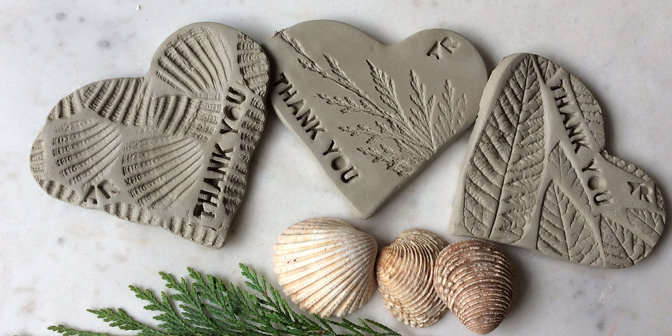 Clay hearts for #EverydayHeroes with Adrienne Roberts