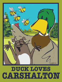 Duck poster small - Carshalton Artists