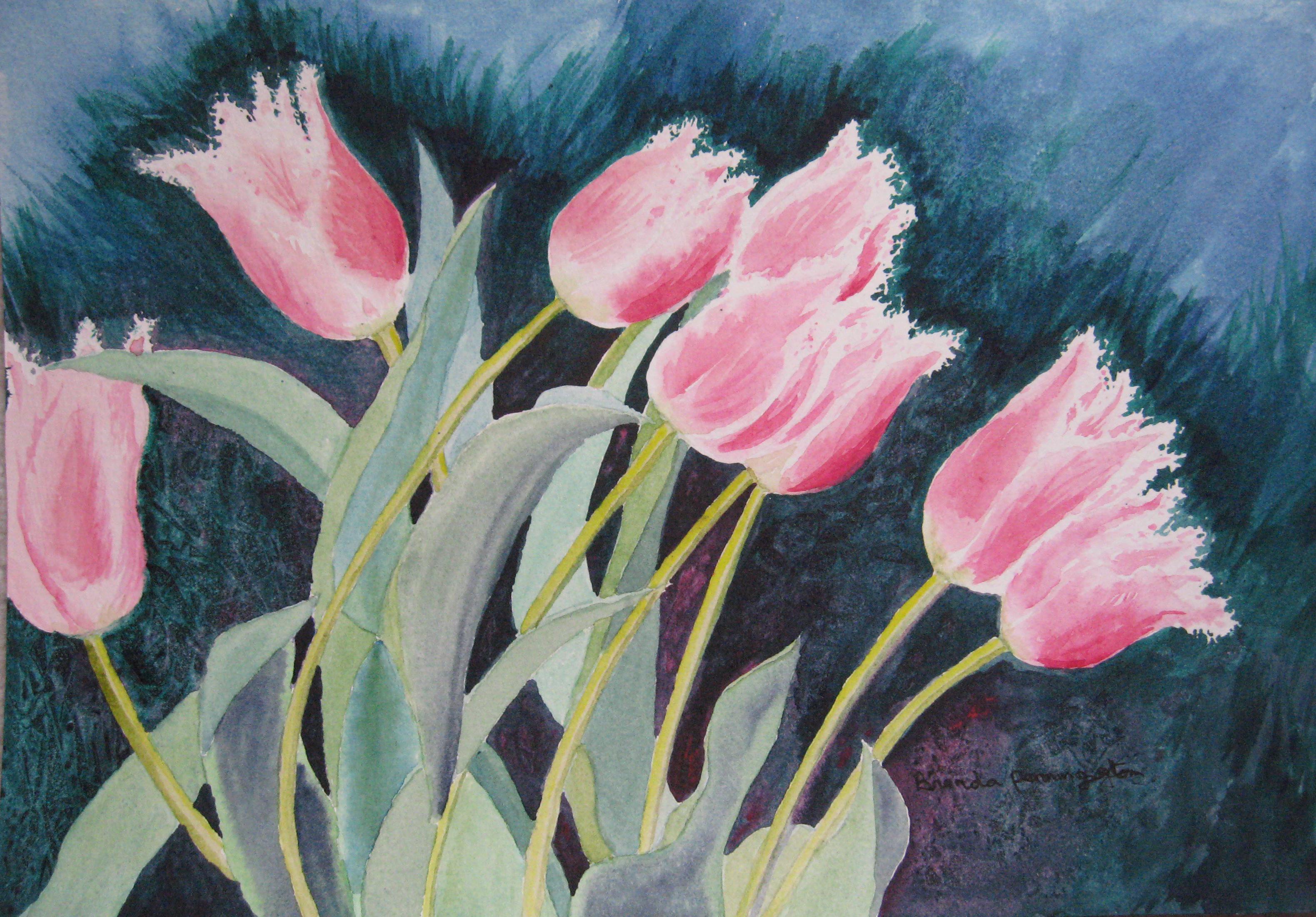 B Pennington Pink Tulips