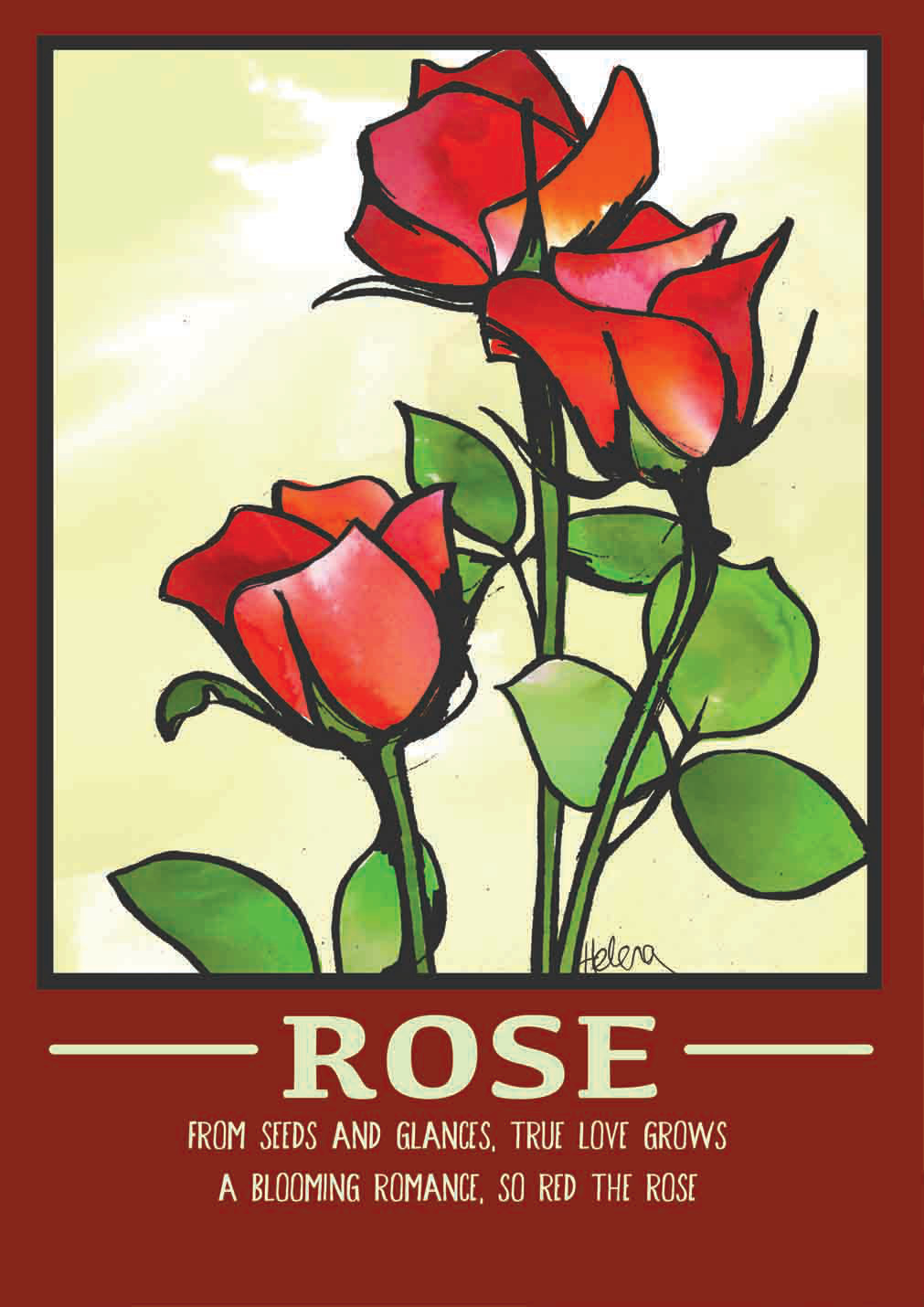 Rose poster small