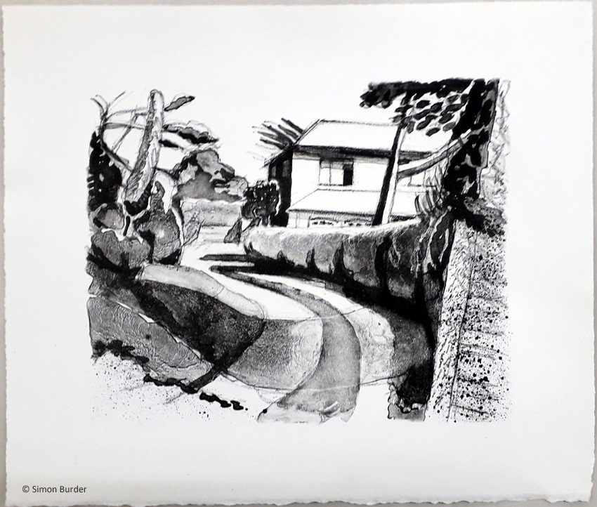 Entrance to a House litho - Simon Burder
