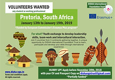! VOLUNTEERS WANTED   (Pretoria, South A