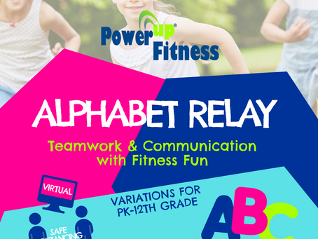 Alphabet Relay - Great for All Ages - PK-12th Grade (Adults too!)