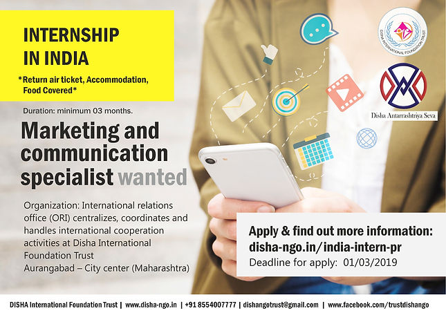 2019.03.01 INTERNS WANTED for PR (India,