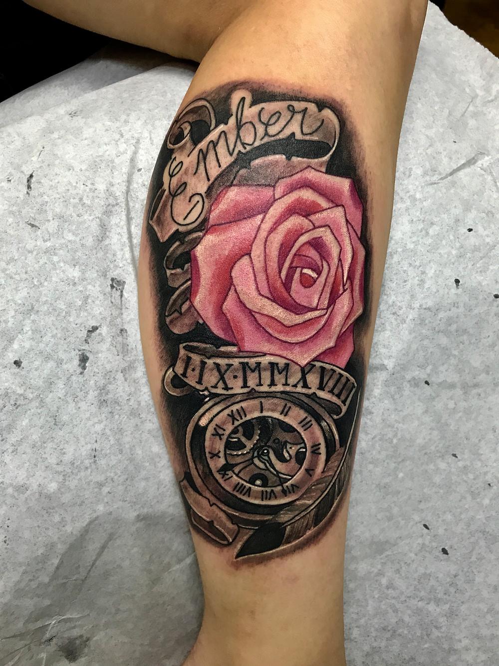 rose tattoo black and gray tattoo