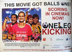Moe Alkaff in One Leg Kicking Movie: One of Singapore's Funniest Movies.