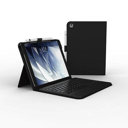 "Zagg iPad 10.2"" (19/20) Messenger Folio Keyboard Case, Charcoal"