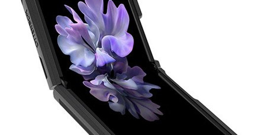 OtterBox Galaxy Z Flip Symmetry Series, Black/Clear