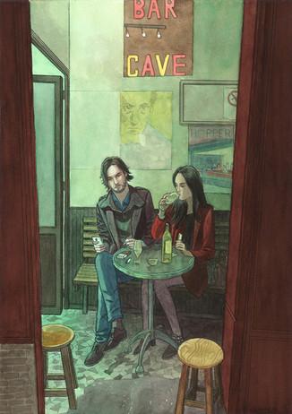 Chez Georges, Paris. Night Lights une série de Geoffrey Beloeil, illustrateur & storyboarder.
