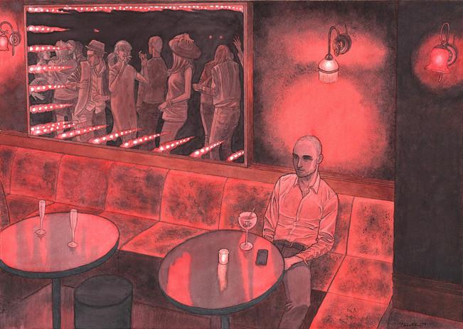 Le Baron, Paris. Night Lights une série de Geoffrey Beloeil, illustrateur & storyboarder.