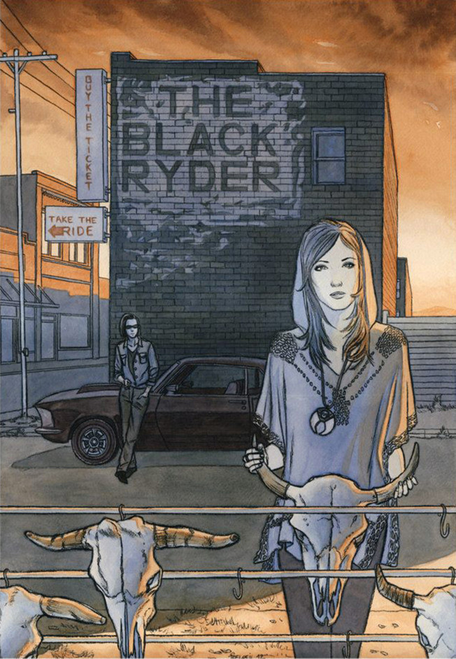 The Black Ryder. Illustration ©GeoffreyBeloeil