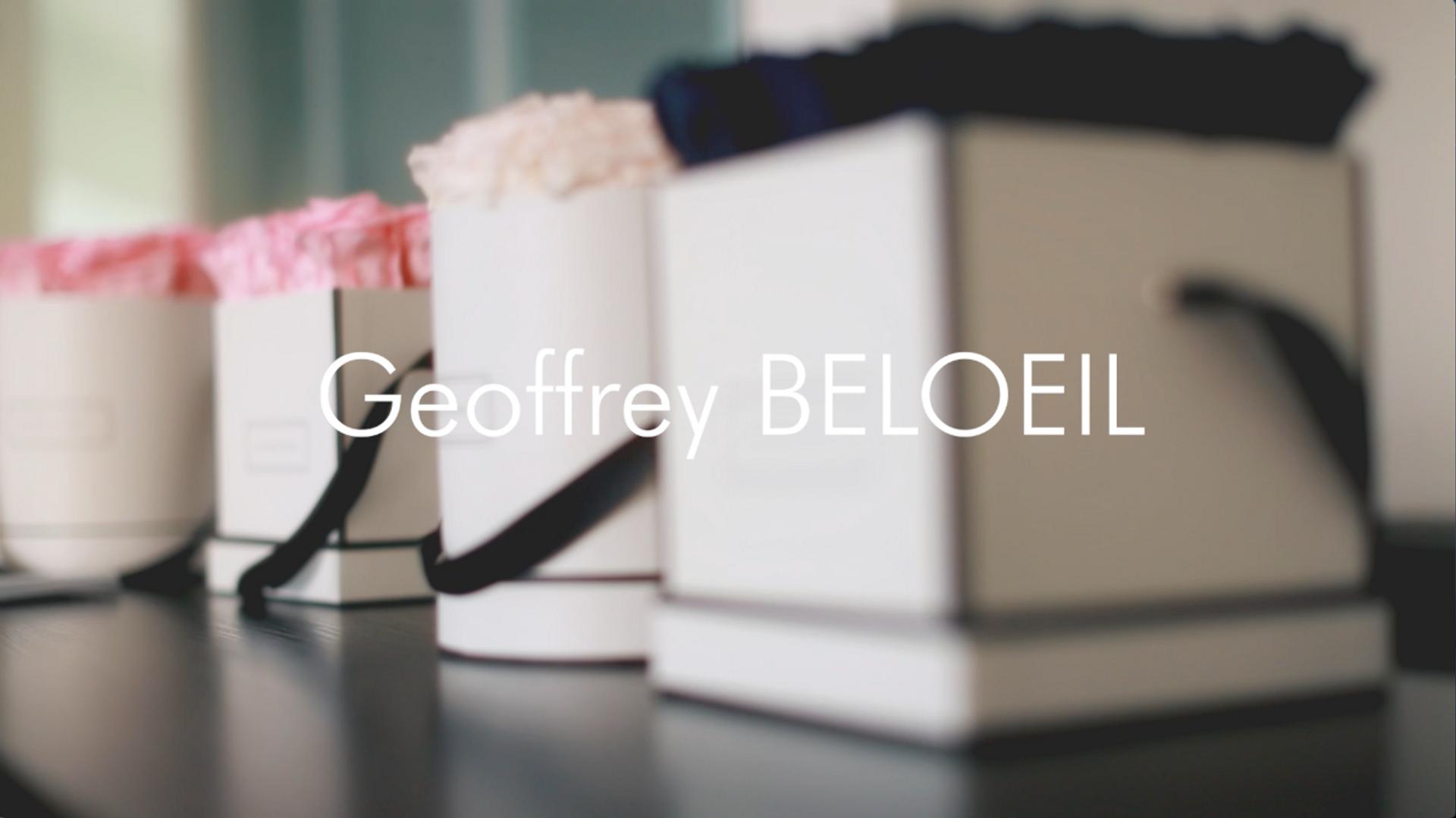 Customisation des boites de Fleurs de Paris par Geoffrey Beloeil