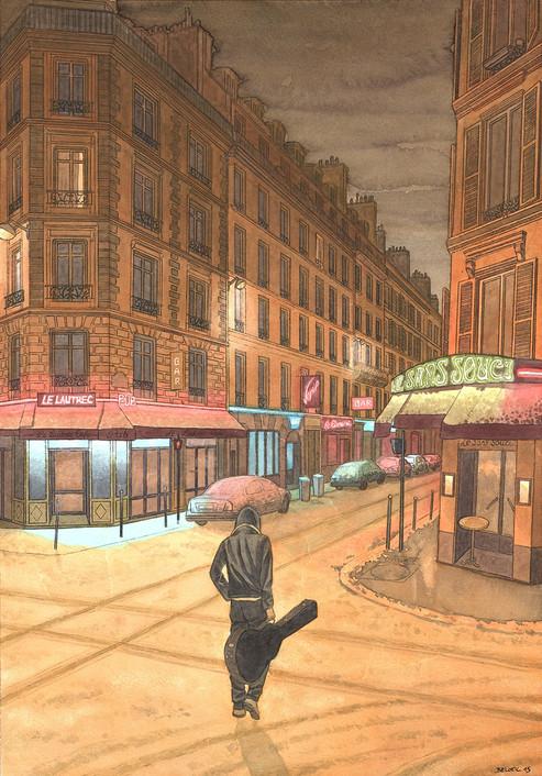 South Pigalle, Paris. Night Lights une série de Geoffrey Beloeil, illustrateur & storyboarder.