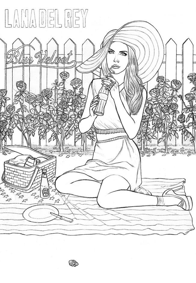 Lana Del Rey - Blue Velvet. Illustration ©GeoffreyBeloeil