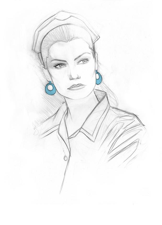 Shelly Johnson - Twin Peaks. IIlustration © GeoffreyBeloeil