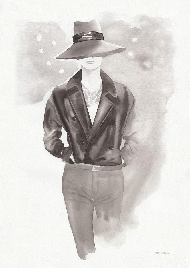 Saint Laurent F/W 2018 inspiration.Fashiion illustrator Geoffrey Beloeil