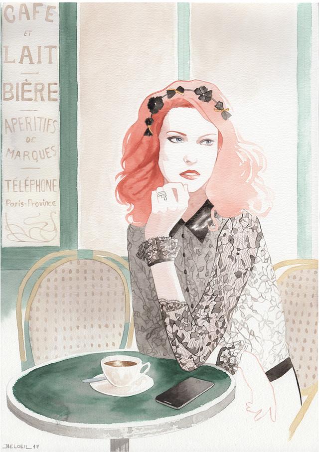 Camille Roucher Paris au Petit Fer à Cheval , illustration de Geoffrey Beloeil