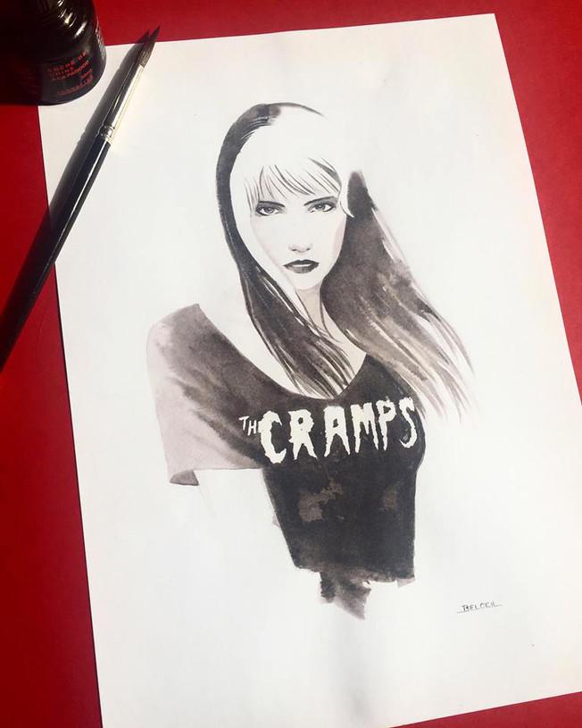 The Cramps T-Shirt. Illustration ©GeoffreyBeloeil