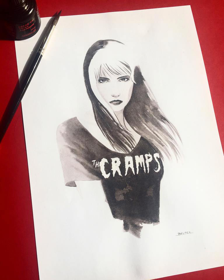 The Cramps T-Shirt. Illustration ©GeoffreyBeloeil