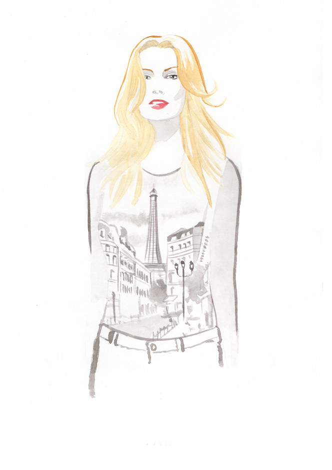 Illustration inspirée par Tony Garn et Kérastase.
