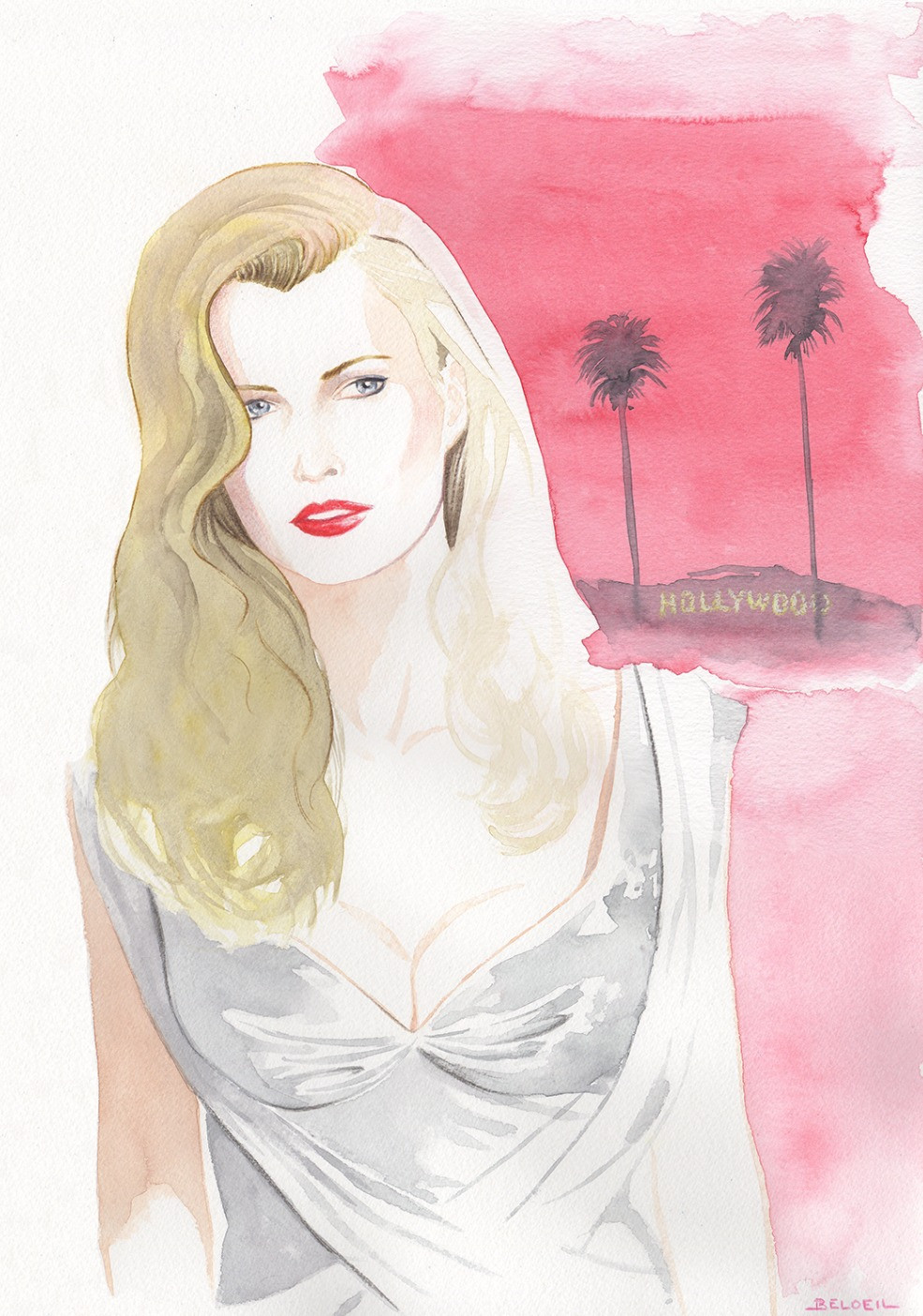 Kim Basinger - L.A. Confidential (1997) by Curtis Hanson. IIlustration ©GeoffreyBeloeil