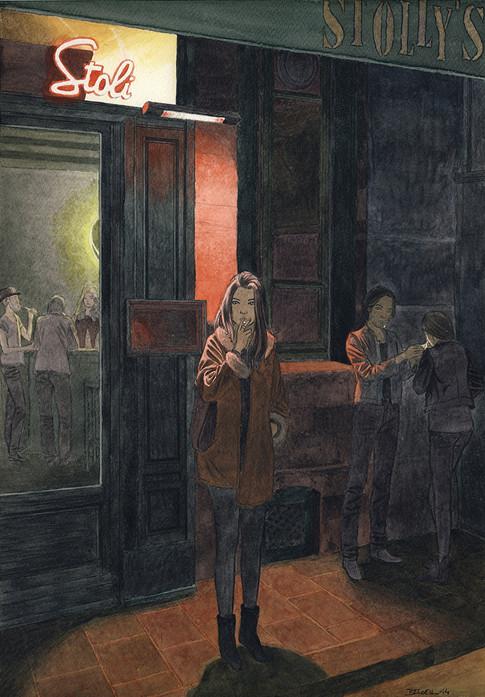 Stolly's, Paris. Night Lights une série de Geoffrey Beloeil, illustrateur & storyboarder.
