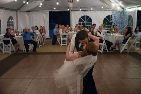 Kissing on the dance floor