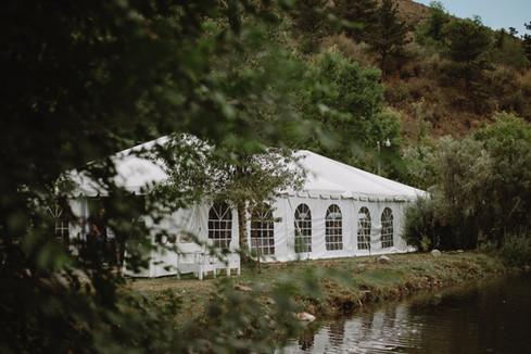 Pond side tent