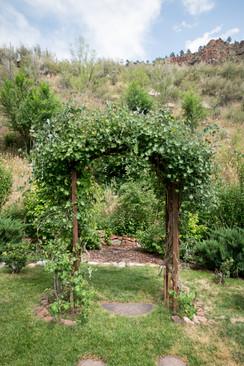 ceremony arbor at Stone Mountain Lodge - outdoor Colorado Venue.