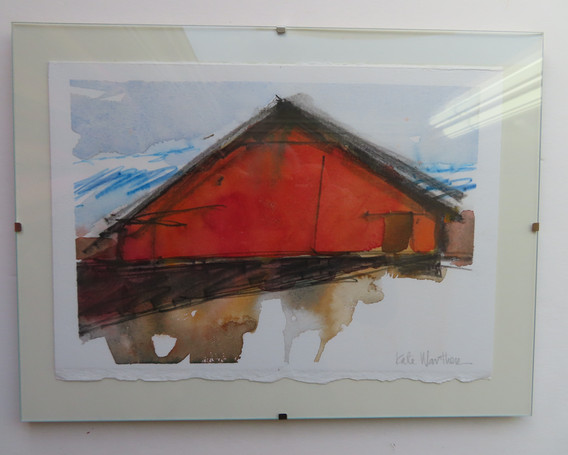 Big Red Barn - shown with glass frame.