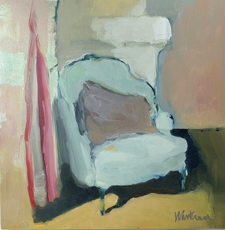 Blue Chair with Pillow
