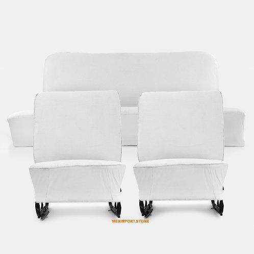 Ensemble de siège blanc restauré d'origine sans appuie-tête pour VW Sedan 1200,