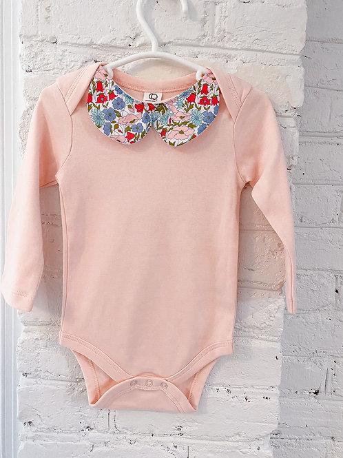 Poppy pink onesie