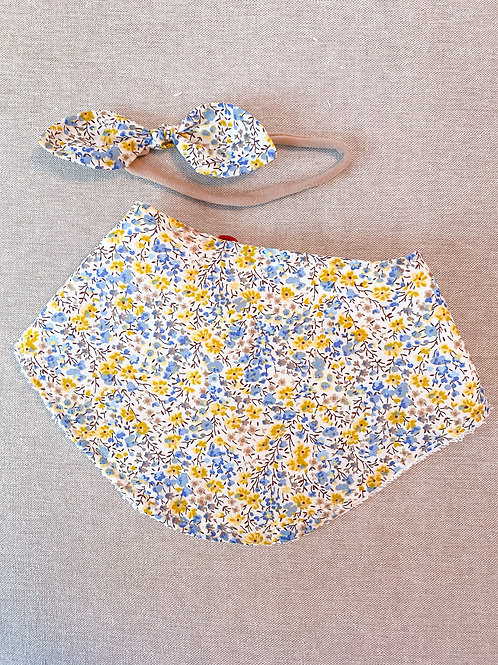 bandana bibs- yellow+orange