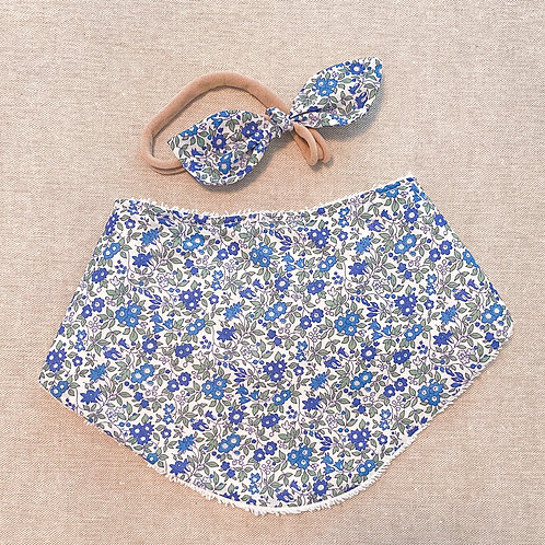 bandana bib blue chamomile
