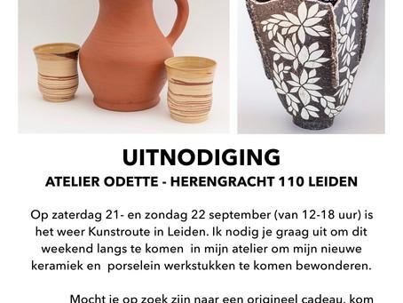 Kom langs bij Atelier Odette tijdens de Kunstroute 21-en 22 september in Leiden